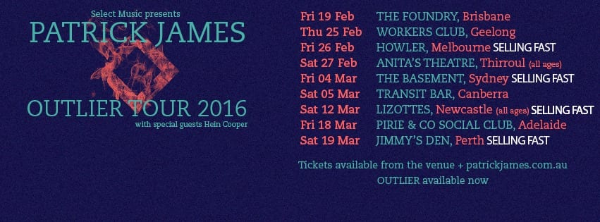 Patrick James Tour Dates