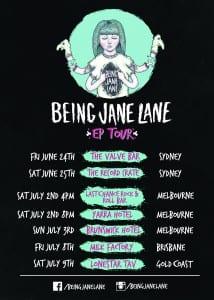 Being Jane Lane Tour Poster