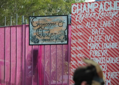 MMVAF: Champagne and Oyster stage