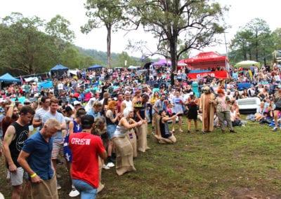 Red Deer Festival: Sack Race